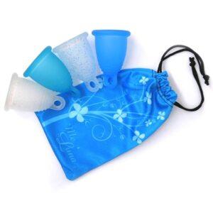 "MeLuna menstruationskop pose ""Blue Harmony"""